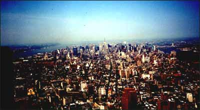 Uptown Manhattan from the World Trade Centre, 1994