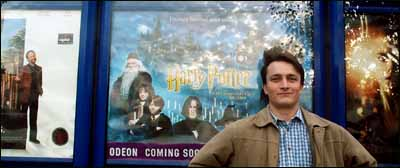 Smug man fresh from watching an advance preview of the new Harry Potter film